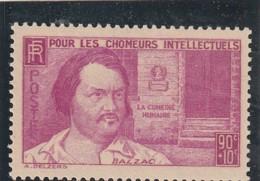 ///   FRANCE - N° 438  Chomeurs Intellectuels Côte**  9€ - France