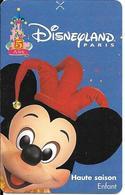 PASS-DISNEYLANDPARIS -1997-5 ANS-MICKEY-V°SPEOS- N° S 049719-VALIDE 1 JOUR-TBE- - Pasaportes Disney
