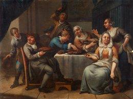 @@@ MAGNET - Netherlandish School, 18th Century, The Feast - Publicitaires