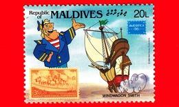 Nuovo - MNH - MALDIVE - 1986 - W. Disney - Ameripex '86 - Cartoni Animati - Fumetti - Carrozze - Windwagon Smith - 20 - Maldive (1965-...)
