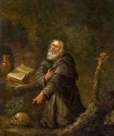 @@@ MAGNET - Netherlandish School, C. 1700, Saint Jerome - Publicitaires