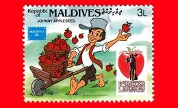 Nuovo - MNH - MALDIVE - 1986 - W. Disney - Ameripex '86 - Cartoni Animati - Fumetti - Johnny Appleseed - 3 - Maldive (1965-...)