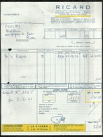 FACTURE RICARD LE : 03 JUIN 1965 . - France