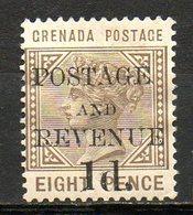 AMERIQUE CENTRALE - GRENADE - (Colonie Britannique) - 1890 - N° 27 - 1 D; S. 8 P. Bistre-olive - (Victoria) - Centraal-Amerika