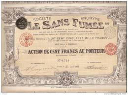 Action Société LE SANS FUMEE - Apareillage Automobile - 1910 - Automobile