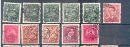 C049 -België  Gestempeld  Met Perforatie 's  11 Stuks ( Perfo ) - 1934-51