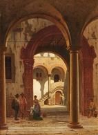 @@@ MAGNET - Peter Kornbeck, Figures In A Venetian Courtyard - Publicitaires