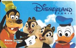 PASS-DISNEYLANDPARIS -1998-PERSONNAGES -ADULTE--V° ISRA-98091CHA- VALIDE 1  JOUR  SAISON BASSE TBE- - Pasaportes Disney