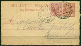 V8535 ITALIA REGNO 1918 Biglietto Postale 10 C., Fil. B11, Interitalia 13, Da Modena 9.12.18 Per Cassano D'Adda, - Interi Postali