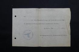 MILITARIA  - Allemagne - Document Avec Cachet De La SS - L 24872 - Documents