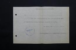 MILITARIA  - Allemagne - Document Avec Cachet De La SS - L 24873 - Documents