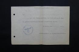 MILITARIA  - Allemagne - Document Avec Cachet De La SS - L 24874 - Documents