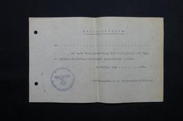 MILITARIA  - Allemagne - Document Avec Cachet De La SS - L 24875 - Documents