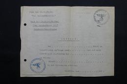 MILITARIA  - Allemagne - Document Avec Cachet De La SS - L 24876 - Documents