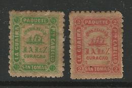 CURACAO - 1869 - SAN TOMAS - La GUAIRA - P.to CABELLO - PAQUETE  - Posta Privata * - Cat.? € - L 1647 G - Curacao, Netherlands Antilles, Aruba
