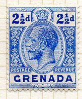 AMERIQUE CENTRALE - GRENADE - (Colonie Britannique) - 1913-21 - N° 72 - 2 1/2 P. Outremer - (George V) - Amérique Centrale