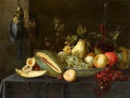 @@@ MAGNET - Pieter Van Overschee, Still Life With Fruit And Birds - Publicitaires