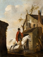 @@@ MAGNET - Pieter Wouwerman, Horseman By A Farmstead - Publicitaires
