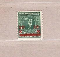 1921 Nr 184** Postfris Zonder Scharnier.Olympiade Antwerpen. - Bélgica