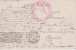 """Cachet """"Hôpital Bénévole 16bis - American Face And Jaw Hospital - Avenue De Wagram 1916 Sur CP Paris - Marcophilie (Lettres)"""