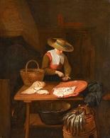 @@@ MAGNET - Quiringh Van Brekelenkam, The Fishmonger - Publicitaires