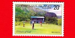 Nuovo - MNH - CHRISTMAS ISLAND  Isola Di Natale - 1980 - Sport - 25 Anni Di Golf - Green - 20 - Christmas Island