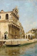 @@@ MAGNET - Rafael Senet Y Perez, View Of Venice With Santa Maria Zobenigo - Publicitaires