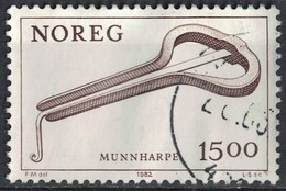 Norvège 1982 Oblitéré Used Instruments De Musique Jew's Harp Guimbarde SU - Norvège