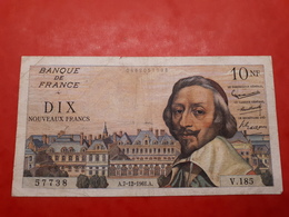10 NF Richelieu Du 7/12/1961 - 1959-1966 ''Nouveaux Francs''
