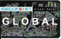 CARTE-PREPAYEE-50F-CALLPOINT-GLOBAL -MONUMENTS De PARIS-Exp 31/12/99-Plastic Epais-TBE- - Andere Voorafbetaalde Kaarten