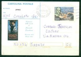 Z1204 ITALIA REPUBBLICA 1984 Cartolina Postale Riccardo Zandonai, Fil. C194, Viaggiata Da Chianciano Terme 2.5.84, - 6. 1946-.. Repubblica