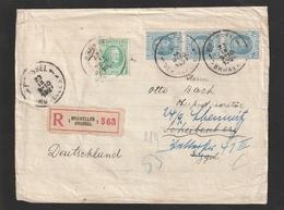 Aangetekende Brief HOUYOUX Met 209 (5fr). + 3 X1,50fr. Naar Duitsland 1927 - 1922-1927 Houyoux