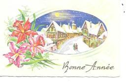MIGNONNETTE BONNE ANNEE FORMAT 7X11 CM  MAD 273 - Nouvel An