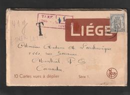 Nr. 527 - 60ct. Op Volledig Boekje Van 10 Prentkaarten - Getaxeerd In Canada - 1935-1949 Petit Sceau De L'Etat
