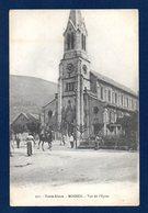 68. Moosch. Eglise Saint-Augustin. Cavalier Et Passants - Autres Communes