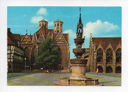 Allemagne: Basse Saxe, Braunschweig, Brunswick, Altstadtmarkt Mit Martinikirche, Marienbrunnen, Altstadtrathaus (19-455) - Braunschweig