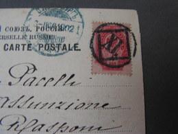 Petersburg Karte 1902 Nach Frascati - Covers & Documents