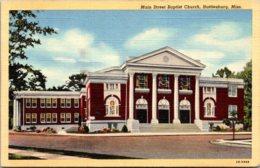 Mississippi Hattiesburg Main STreet Baptist Church 1944 Curteich - Hattiesburg