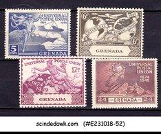 GRENADA - 1949 75th ANNIVERSARY OF UPU SCOTT#147-50 4V MH - Grenada (...-1974)