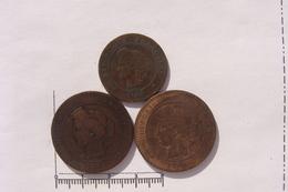 LOT 3 Monnaies Ceres Bronze (&30) - France