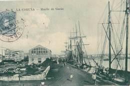 Carte Postale :  La Coruna  (Espagne Galicia )  Muelle De Garas    1909  Internacional Express  Rara - La Coruña