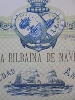 ESPAGNE - BILBAO 1883 - CIE BILBAINA DE NAVEGACION - ACTION  DE 500 PESETAS - BELLE DECO - PAS DE COUPONS - Shareholdings