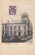 SINAGOGA-SYNAGOGUE-TEMPIO-TEMPEL-JUDAICA-JUDISCHER-FALKENAU A.D EGER-CARTOLINA VIAGGIATA IL 24-9-1923 - Tchéquie