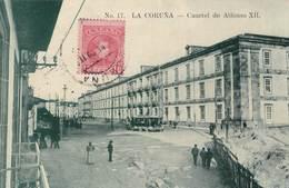 Carte Postale :  La Coruna  (Espagne Galicia )  Cuartel De Lfonso XII   1909  Internacional Express  Rara - La Coruña