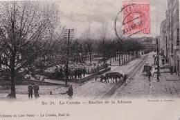 Carte Postale :  La Coruna  (Espagne Galicia )  Muelles De La Aduana  1909  Internacional Express  Rara - La Coruña