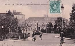 Carte Postale :  La Coruna  (Espagne Galicia ) Plaza Del General Azcarraga  1909  Internacional Express  Rara - La Coruña