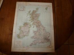 1884 Carte Géographique : Recto (GRANDE BRETAGNE Et IRLANDE) ;  Verso (PAYS-BAS) Et (FRANCE Du Sud-Est Dont CORSE ) Etc - Geographische Kaarten