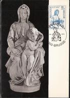Belgium 1975 Culture: Madonna Of Bruges, Sculpture By Michelangelo Buonarroti (1475-1564), Mi 1813, MK - Belgio