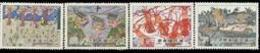 1981 Kid Drawing Stamps Lobster Cable Car Gondola Rural Marine Life - Holidays & Tourism