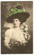 50 - Mode 1909- Jeune Dame - Chapeau Original - Mode
